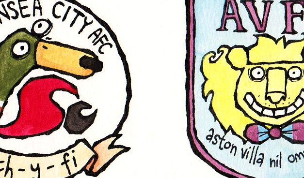 The Friday Cartoon: Football Club Badges Reimagined