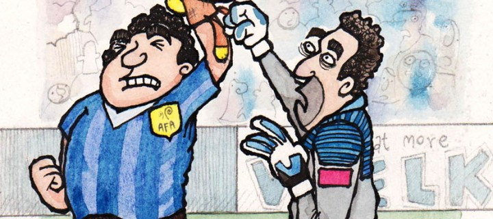 The Friday Cartoon: How Diego Maradona Really Beat England In 1986